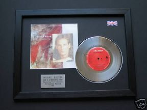 "MICHAEL BOLTON - Love Is A Wonderful Thing 7"" platinum DISC with Cover"